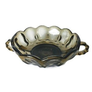 Vintage Double Handled Smoke Candy Dish